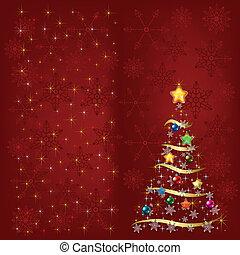 装飾, 木, 雪片, クリスマス