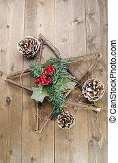 装飾, 無作法, 木, クリスマス