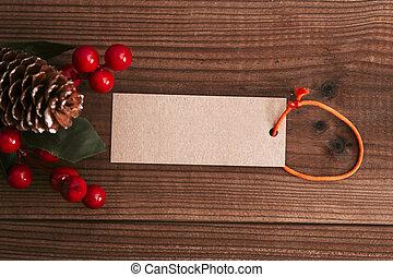 装飾, 無作法, 木, クリスマス, 背景