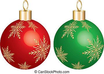装飾, 緑の赤