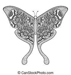 装飾, 美しい, butterfly.