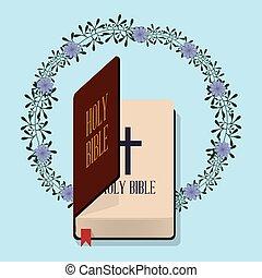 装飾, 聖書, 花, 神聖, 結婚式