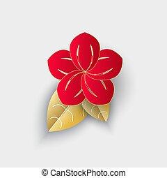 装飾, 花, 葉, 中国の新年, origami
