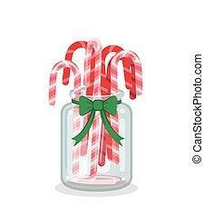 装飾, 茎, クリスマス, キャンデー