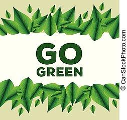 装飾, 葉, エコロジー, メッセージ, 保護