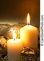 装飾, 蝋燭, クリスマス