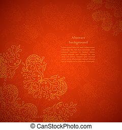 装飾, 赤い背景