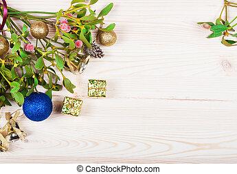 装飾, 金, 安っぽい飾り, 背景, ボーダー, クリスマス