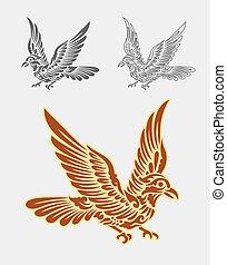 装飾, 飛行, 装飾, 鳥