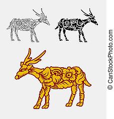 装飾, 鹿, 装飾