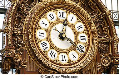 装饰品, 铁路, 钟