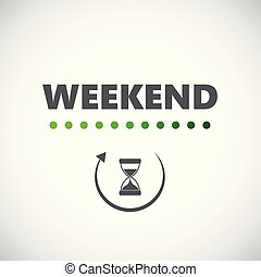 裝貨, 周末, hourglass, 圖象