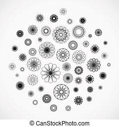 裝飾品, 輪, 背景