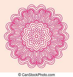 裝飾品, mandala., pattern., 輪