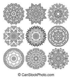 裝飾, 帶子, 裝飾品, 圖案, 環繞, 黑色, 彙整, 幾何學, 小墊布, 白色, 輪