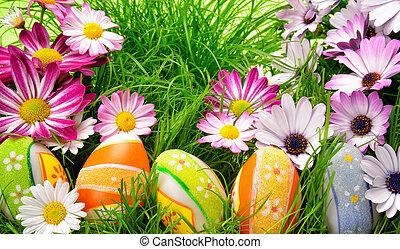 裝飾, 復活節, 鮮艷