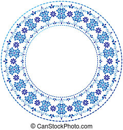 裝飾, 框架,  white-blue,  gzhel