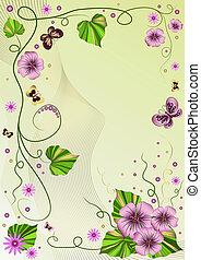 裝飾, 植物, 框架