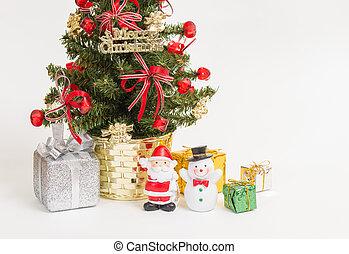 裝飾, 白色, 樹, 聖誕節, 背景