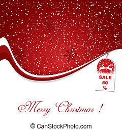裝飾, 聖誕節, 背景, 紅色
