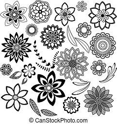 裝飾, 花的要素