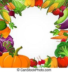 裝飾, 蔬菜, 框架