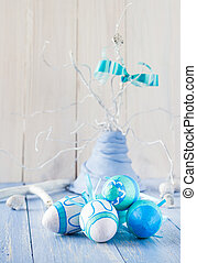裝飾, 蛋, 復活節, 鮮艷, 安排
