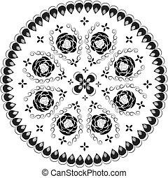 裝飾, 輪, 圖案, 帶子