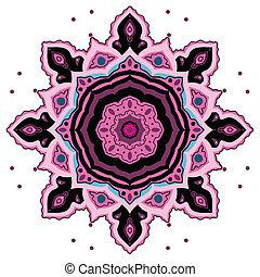 裝飾, mandala., 印第安語, pattern.