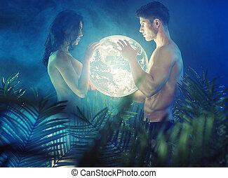 裸である, 地球, 恋人, 光沢がある, 保有物