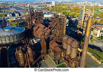 製粉所, 捨てられた, ostrava, vitkovice, 鋼鉄