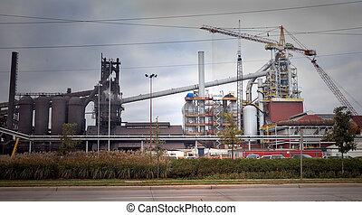 製粉所, 鋼鉄, 建設