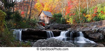 製粉所, grist, 入り江, 林間の空き地