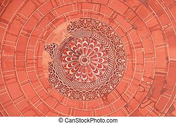 複合センター, pradesh, fatehpur, インド, sikri, パターン, uttar, 天井