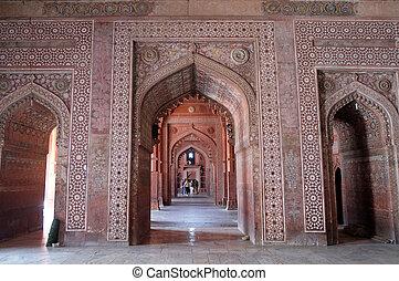複合センター, pradesh, masjid, モスク, fatehpur, インド, sikri, uttar, ...