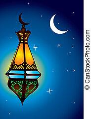 複雑, ランプ, 三日月, アラビア, 月