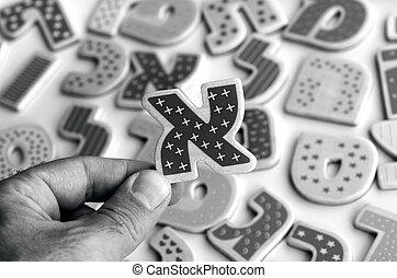 西伯來語字母表, 信件