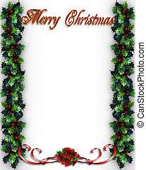 西洋ヒイラギ, クリスマス, ボーダー