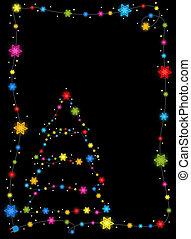 西洋ヒイラギ, フレーム, 木, クリスマス