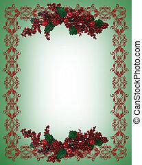 西洋ヒイラギ, 休日, ボーダー, クリスマス, ベリー