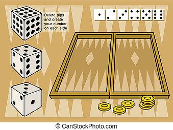 西洋棋, 由于, 骰子, 矢量