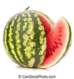西瓜, 成熟, 被切成薄片