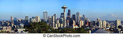 西雅图地平线, 全景, wa。
