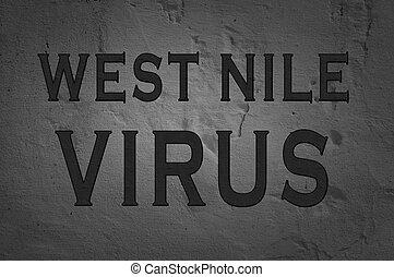 西, ウイルス, 単語, ナイル