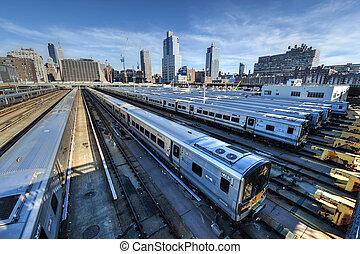 西, 列車の ヤード, 側