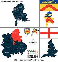 西, staffordshire, midlands, イギリス