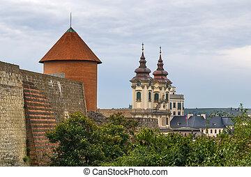 要塞, anthony's, 教会, ハンガリー, eger, st. 。