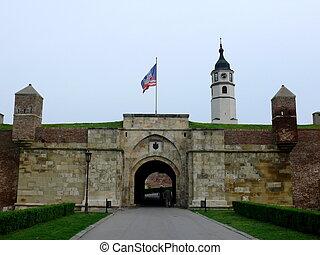 要塞, kalemegdan, 中に, ベオグラード, セルビア