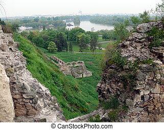 要塞, kalemegdan, 在中, 贝尔格莱德, 塞尔维亚