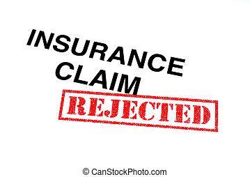 要求, 保険, 拒絶された